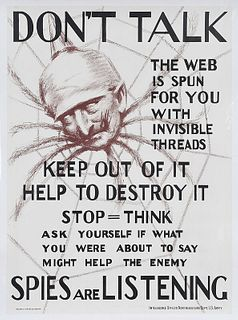 United States WWI Intelligence Poster