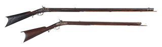 Two American Percussion Rifles