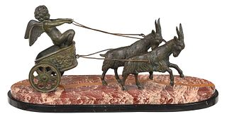 Grand Tour Bronze Cupid Figural Group