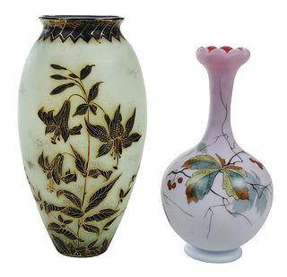 Mt. Washington and New England Art Glass Vases