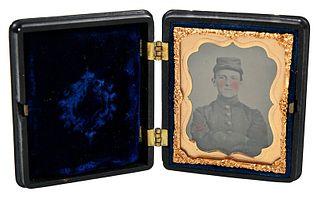 Confederate Artillery Soldier Ambrotype