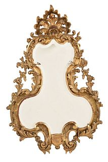 Chippendale Carved and Giltwood Mirror