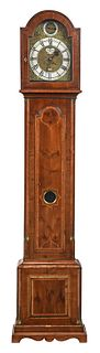 Continental Baroque Inlaid Tall Case Clock
