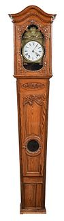 Provincial Louis XV Carved Pine Clock