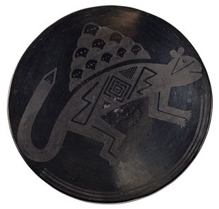 Maria Martinez Blackware Plate