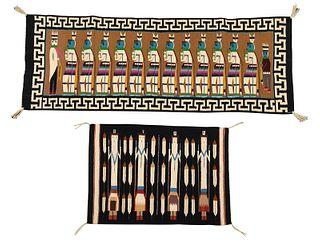 Two Navajo Yei Weavings
