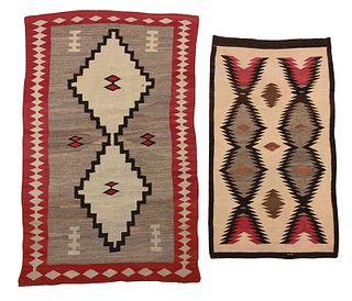 Two Ganado Style Navajo Weavings