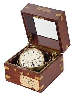 Waltham Eight Day Ship's Chronometer and Case