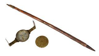 Signed Goldsmith Chandlee Surveyor's Compass