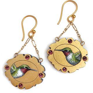Hummingbird Earrings, made-to-order