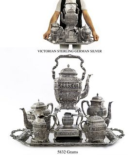 Exceptional 19th C. Victorian Sterling Silver Tea Set