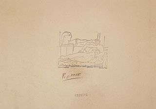 Escultor y Escultura, A PICASSO ETCHING PRINT, Signed