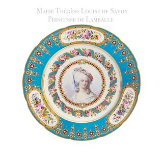 18th C Sevres Portrait of Marie Therese Louise of Savoy