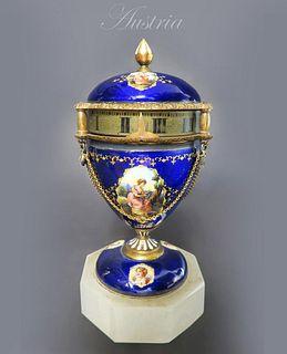 19th C. Austrian/Viennese Enamel Rotary Clock
