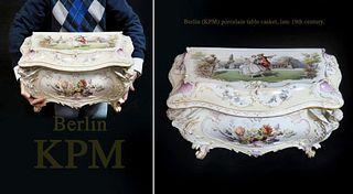 Berlin (KPM) Porcelain Table Casket, Late 19th century