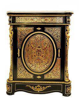 19th C. Louis XVI Boulle Bronze Cabinet