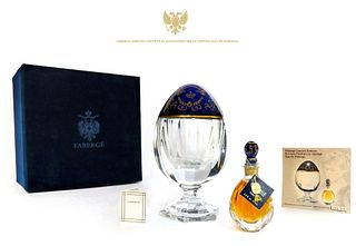 Faberge Limited Edition St Louis Perfume In Crystal Egg
