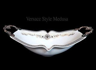 A Medusa Versace Style Porcelain Centerpiece