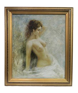 The Nude, Oil On Canvas Painting