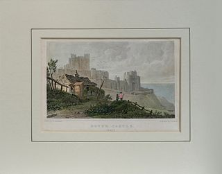19th C. Dover Castle engraved by H.Adlard