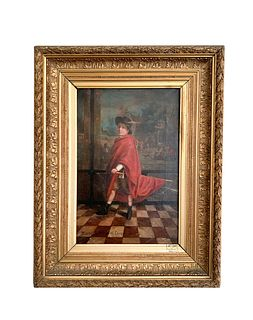 19th C French Oil on Canvas Painting, Signed/Dated 1888