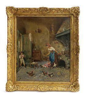 Giovanni Panza (1894-1989) Oil on Canvas