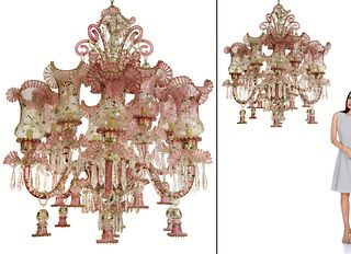 Large Baccarat style continental chandelier 12-Lights