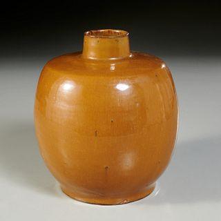 Chinese cafe au lait glaze tianqiuping vase