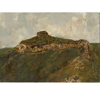 Signed Cao Jigang 署名 曹吉冈, oil on canvas, c. 1987