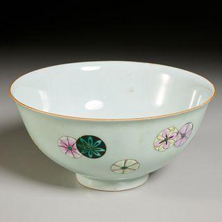 Chinese famille rose flower-balls bowl