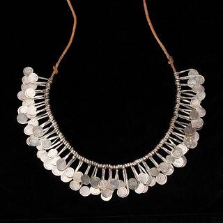 Alexander Calder (attrib), silver fringe necklace