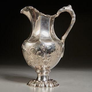 American silver pitcher, William Gale & Son