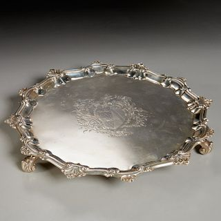 George II silver salver, William Peaston