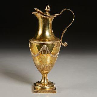 George III gilt silver pitcher, John Carter II