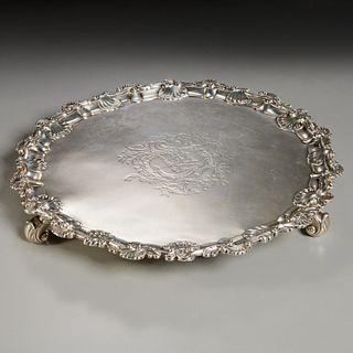 George II silver salver, Richard Rugg
