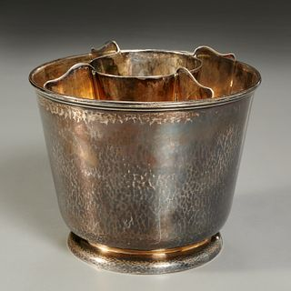 Clemens Friedell, interesting silver serving bowl