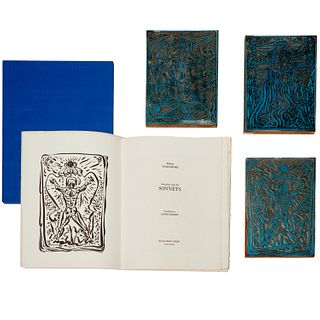 Andre Masson, (3) printing plates + signed etching