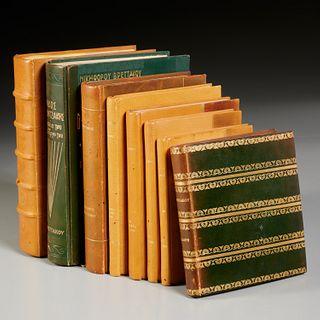 Nikiforos Vrettakos, (8) fine bindings, 5 signed