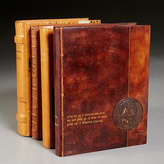 (4) Vols. Greek poetry, fine leather bindings