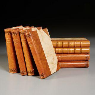 Nikos Kazantzakis, (8) fine leather bindiings