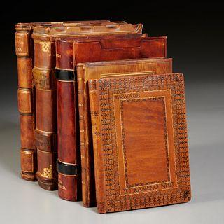 (5) Vols. Greek Literature, fine leather bindings