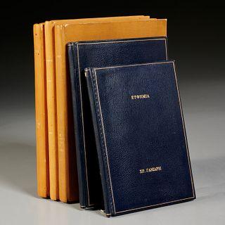 (6) Vols., Greek and Turkish poetry, fine bindings
