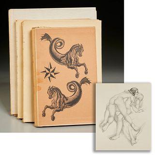 (4) French vols., erotic illustrations