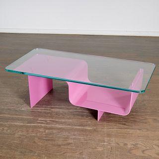 Nick Dine, custom pink coffee table