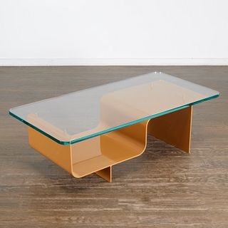 Nick Dine, custom tan coffee table