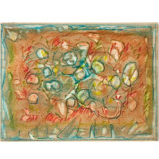 Charles Seliger, mixed media painting, 1988