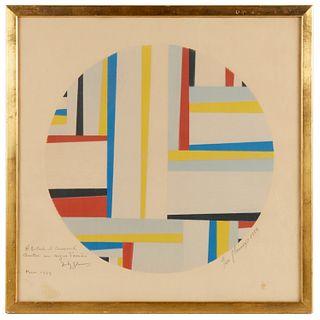 Fritz Glarner, color lithograph, c. 1949