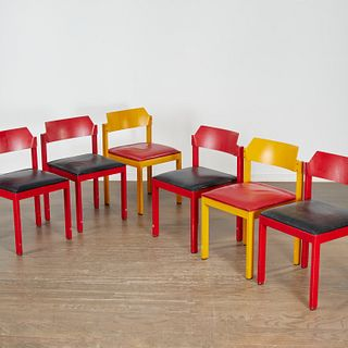 Rainer Schell, (6) colorful stacking chairs