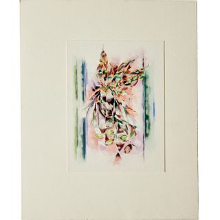Charles Seliger, watercolor on card, 1983