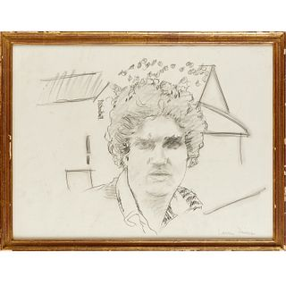 Larry Rivers, graphite drawing, c. 1980